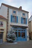 Boutique de Noël dans les Frances image stock