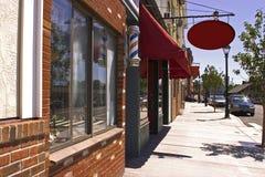 Boutique de Nueva Inglaterra - calle del verano Imágenes de archivo libres de regalías