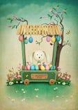Boutique de Pâques illustration de vecteur