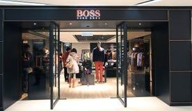 Boutique de patron de Hugo de patron à Hong Kong Image libre de droits
