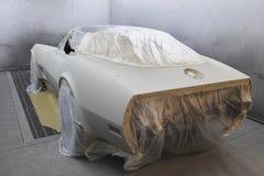 Boutique de peinture de voiture Photos stock
