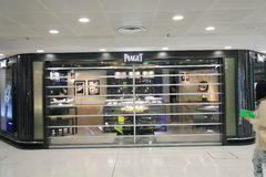 Boutique de Piaget en aéroport de Hong Kong International Photos stock