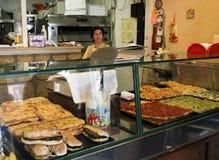 Boutique de pizza à Rome Photo libre de droits