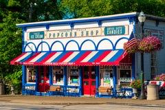 Boutique de point de repère de Chagrin Falls Photo libre de droits