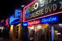 Boutique de porno de Frances de Paris photo stock