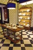 Boutique de poterie de porcelaine photos libres de droits