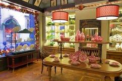 Boutique de poterie de porcelaine Photographie stock libre de droits
