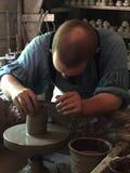 Boutique de poterie recréée au vieux village de Sturbridge dans le Massachusetts Images stock