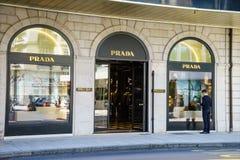 Boutique de Prada Fotos de archivo