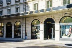 Boutique de Prada Imagen de archivo libre de regalías