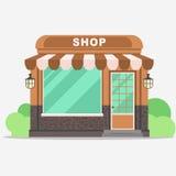 Boutique de rue, avant de petit magasin illustration libre de droits