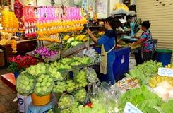 Boutique de rue de fleur images stock
