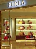 Boutique de sacs à main de Furla, Hong Kong Photos libres de droits
