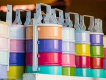 Boutique de sacs et de boîtes de déjeuner Images stock