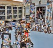 Boutique de souvenirs de Santorini images stock