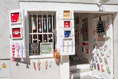 Boutique de souvenirs en Croatie photo stock
