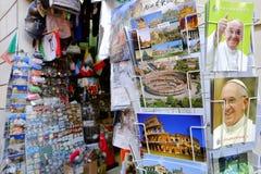 Boutique de souvenirs religieuse Photographie stock libre de droits