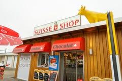 Boutique de souvenirs suisse Photos libres de droits