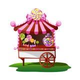 Boutique de sucrerie avec un décor gai illustration stock