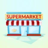 Boutique de supermarché, illustration de vecteur illustration stock