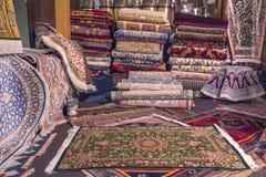 Boutique de tapis d'Ethnics Image libre de droits