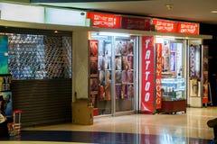 Boutique de tatouage Photographie stock