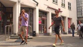 Boutique de Telekom banque de vidéos