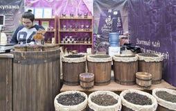 Boutique de thé dans Nijni-Novgorod, Fédération de Russie Photographie stock libre de droits
