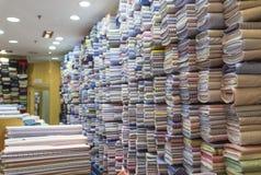 Boutique de tissu Image stock