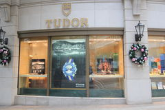 Boutique de Tudor en Hong Kong photos libres de droits