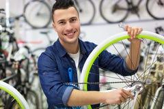 Boutique de vélo image libre de droits