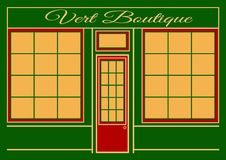 Boutique de Vert photo libre de droits