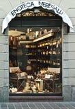 Boutique de vin en Italie Photographie stock libre de droits