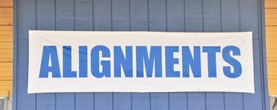 Boutique de voiture d'alignements Image stock