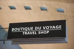 Boutique de voyage Photos stock