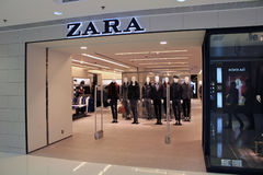 Boutique de Zara à Hong Kong Image libre de droits
