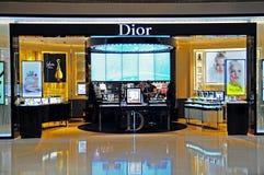 Boutique del cosmestics de Dior Fotografía de archivo libre de regalías