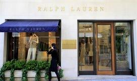 Boutique del lujo de Ralph Lauren imágenes de archivo libres de regalías