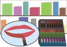 Boutique del maquillaje Fotografía de archivo libre de regalías