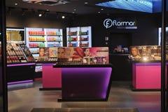 Boutique del perfume y de los cosméticos Imágenes de archivo libres de regalías