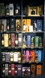 Boutique dell'alcool in duty-free Fotografia Stock
