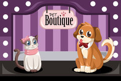 Boutique dell'animale domestico Immagine Stock