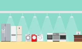 Boutique des appareils ménagers Photos stock