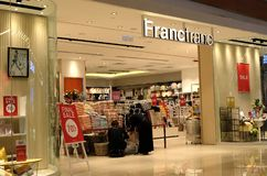 Boutique di Francfranc in Hong Kong Francfranc è un deposito fornire domestico giapponese che funziona sotto immagine stock libera da diritti