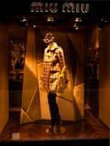 Boutique di Miu Miu con il marchio Fotografie Stock Libere da Diritti