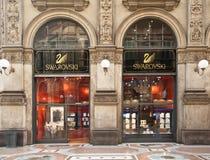 Boutique di Swarovski a Milano Immagine Stock