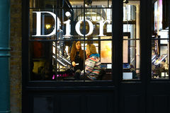 Boutique of Dior in London Stock Image