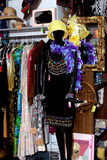 Boutique display. With vintage clothing and accessories Royalty Free Stock Photo