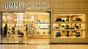 Boutique do choo de Jimmy em Hong Kong Fotografia de Stock