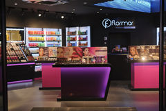 Boutique do perfume e dos cosméticos Imagens de Stock Royalty Free